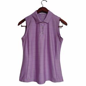 Adidas ClimaCool Sleeveless Lilac Golf Shirt